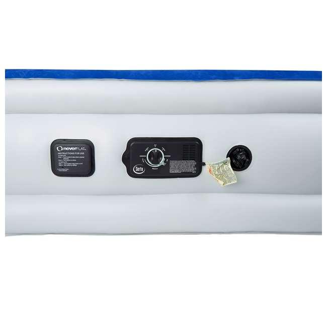ST840017B-U-A Serta Raised Queen Size Bed Air Mattress with Never Flat Pump, Blue (Open Box) 1