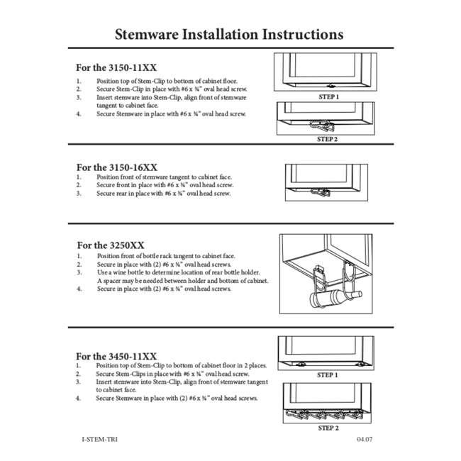 3150-18ORB Rev-A-Shelf 3150-18ORB 18 Inch Under Cabinet Stemware Holder, Oil Rubbed Bronze 4