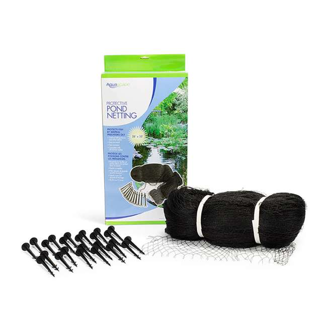 3 x AQS-98002 Aquascape 28 x 30-Foot Protective Pond Netting Cover (3 Pack) 2
