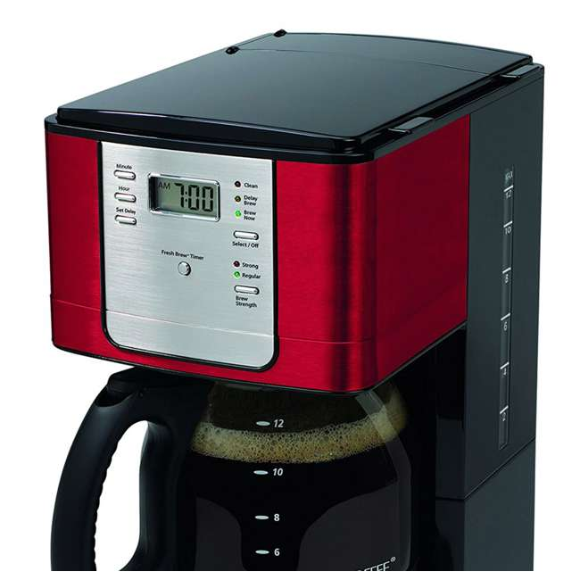 Mr Coffee K Cup Maker Review : Mr. Coffee 12-Cup Programmable Coffee Maker, Red : JWX36RR
