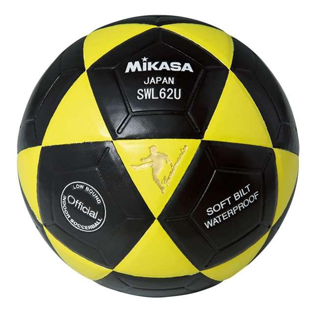 SWL62-BY + SWL62-YBK + SWL62-WBK Mikasa Leather Futsal Indoor Soccer Ball with 2 Mini Balls 4