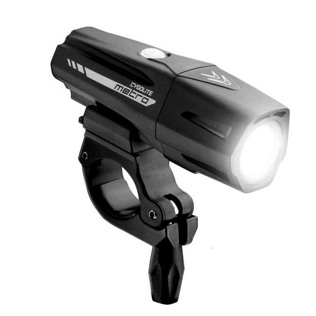 MTR-1100-USB Cygolite Metro Pro 1100 Lumen USB Chargeable Handlebar LED Bike Light, Black