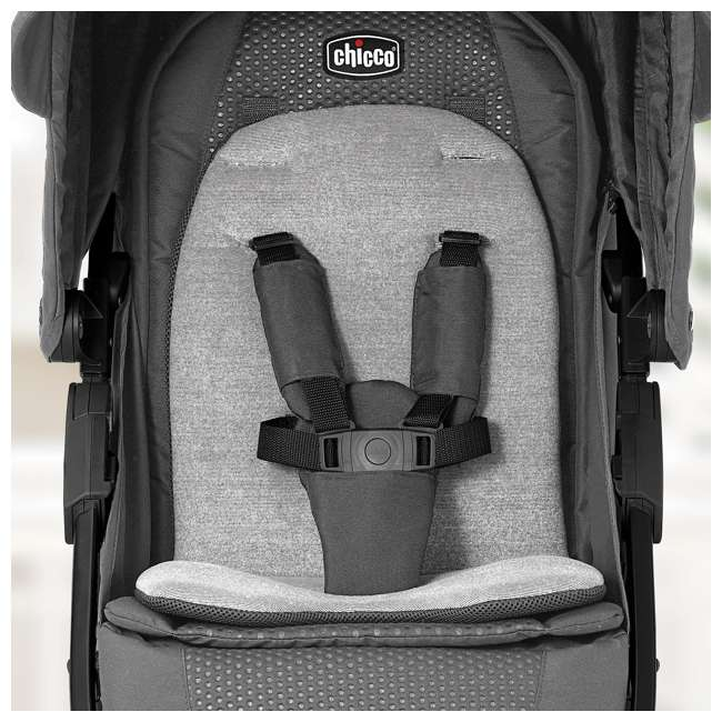 CHI-0507922496 Chicco Bravo LE Trio Travel System w/ KeyFit 30 Zip Infant Car Seat, Latte Brown 2