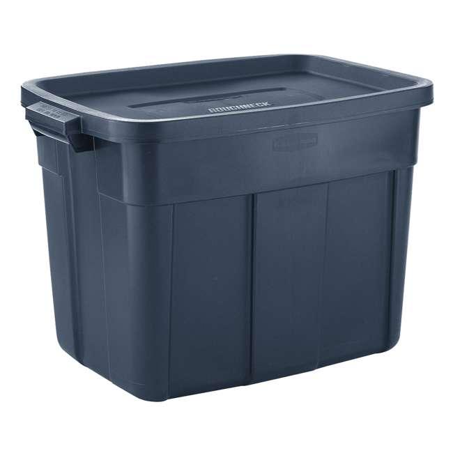 RMRT180051-6pack Rubbermaid Roughneck 18 Gallon Storage Tote, Dark Indigo Metallic (6 Pack) 1