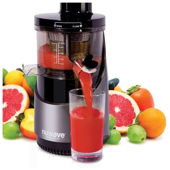 NW-27001-U-B NuWave Nutri-Master Fruit & Vegetable Cold Press Slow Juicer Machine (Used) 3
