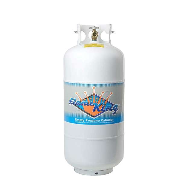 YSN401a Flame King YSN401a 40 Pound Steel Empty Propane Cylinder w/ Overflow Protection