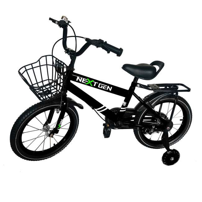 16BK-BLACK NextGen 16 Inch Childrens Kids Bike Bicycle with Training Wheels & Basket, Black 4