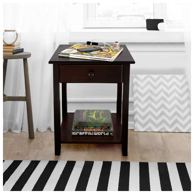 647-23 Casual Home Night Owl Nightstand with USB Ports 7
