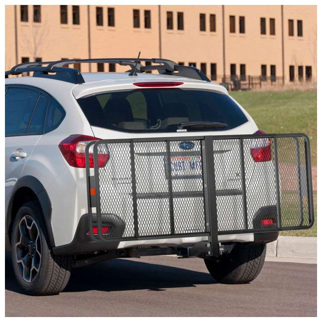 CURT-18153-U-B Curt Vehicle Folding Basket Style Cargo Carrier for up to 500 Lbs(Used) (2 Pack) 4