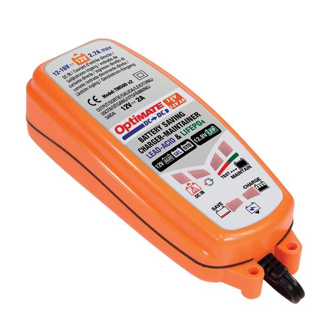 TM-500-U-B TecMate 4.3 Polar Year Round Battery Charger for 12V Lead Acid Battery (Used) 2