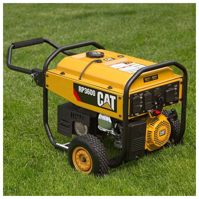 CAT-502-3684 CAT 502-3684 3,600 Running Watts 13 Hour 5 Outlet LED Lit Portable Generator 4