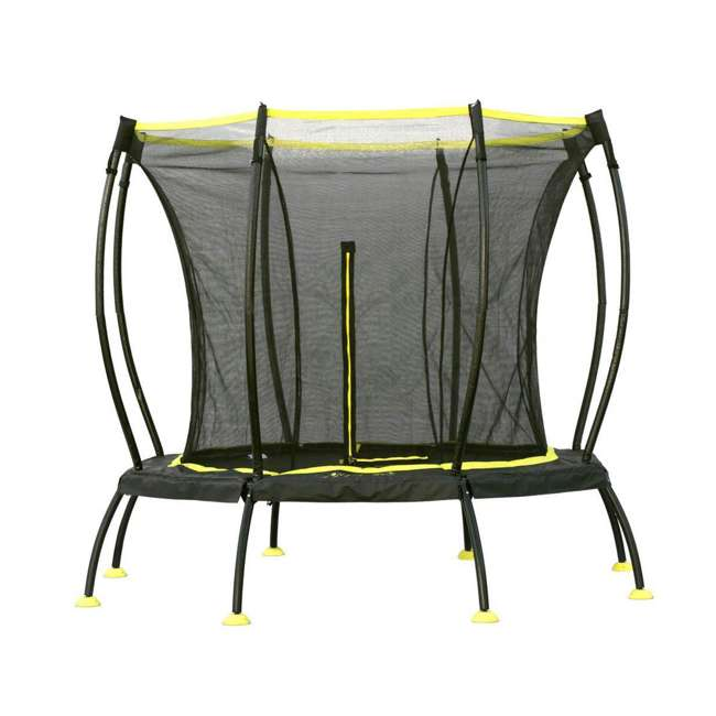 SB-T08ATM02 8-Foot Octagonal Black Trampoline With Safety Net