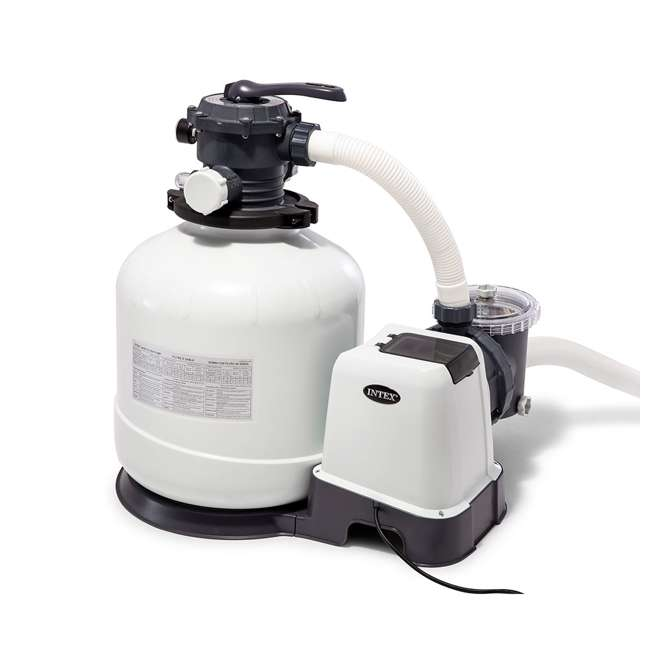 26651EG + 28001E Intex Pool Sand Filter Pump and Automatic Pool Vacuum 3