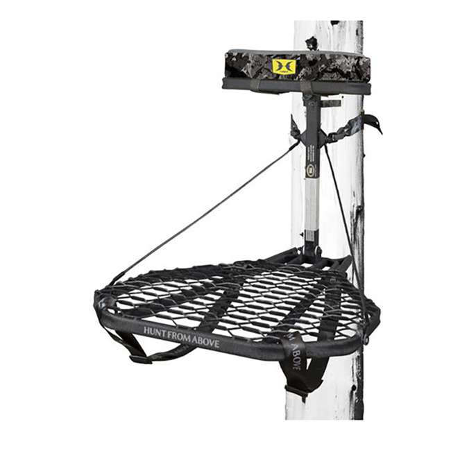 HWK-2000-MF Hawk COMBAT Durable Steel Hang-On Hunting Treestand & Full-Body Safety Harness