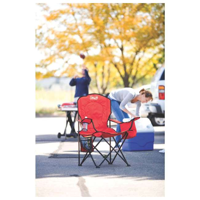 Coleman Oversized Quad Chair W Cooler Amp Cup Holder Gray