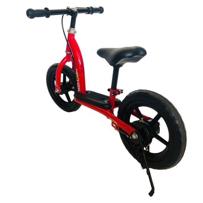 12BALBK-R NextGen 12 Inch Childrens Toddlers Kids Balance Bike Bicycle with Kickstand, Red 2
