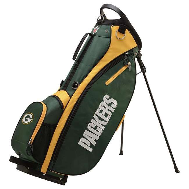 WGB9950GB Wilson 2018 NFL Carry Full Size Golf Club Bag with 8 Pockets, Green Bay Packers