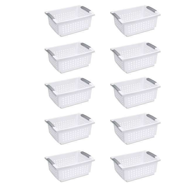 10 x 16628010 Sterilite Medium Home Stackable Storage & Organizer Basket, White (10 Pack)