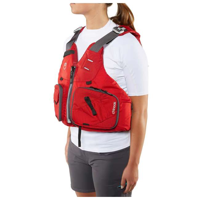 NRS_40009_04_105 NRS PFD Chinook Unisex Fishing Lifejacket, Red, Large/XL 5