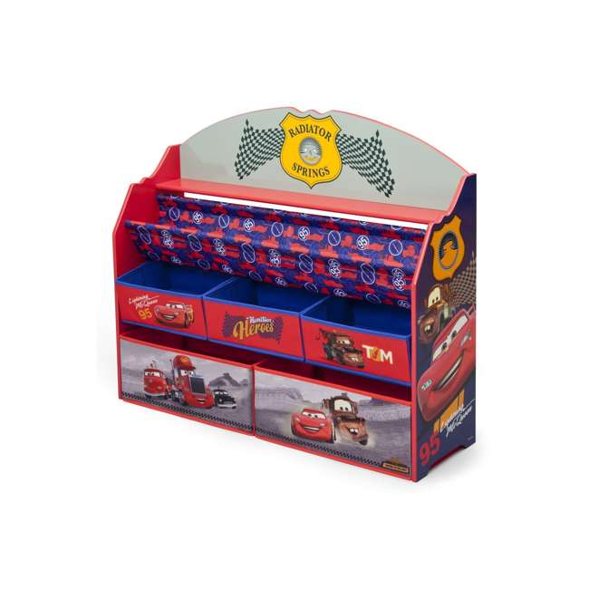 TB84993CR-1010 Delta Children Disney/Pixar Cars 3 Deluxe Book and Toy Organizer 3