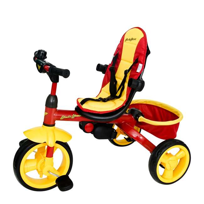 7501WWM Kids Embrace Wonder Woman 4-in-1 Push and Pedal Toddler Trike and Stroller, Red 3