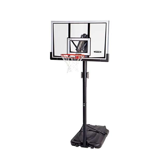 90601 Lifetime Adjustable All Weather Shatterproof Basketball Sports Hoop (Used)