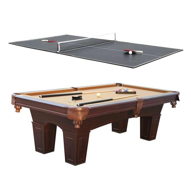 BLL096_097B Barrington 8-Foot Billiard Pool Table and Table Tennis Top