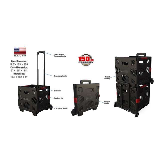 85-015 Olympia Tools 85-015 Grand Pack n Roll Portable Folding Storage Dolly w/ Wheels 3