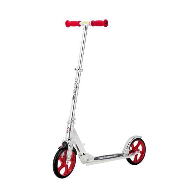 13013201 + 97778 Razor A5 Lux Scooter (Red) with Youth Helmet (Black) 1