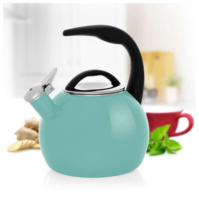 37-ANN-PC Chantal 2-Quart Enamel-On-Steel Anniversary Teakettle, Blue (2 Pack) 3