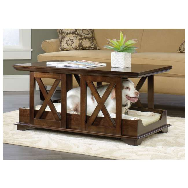 Sauder Furniture Birch Full Coffee Table Pet Dog Bed
