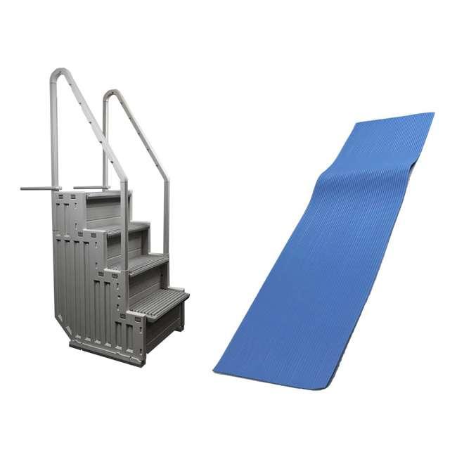 STEP-1 + 87953 Confer STEP-1 Pool Ladder and Ladder Mat