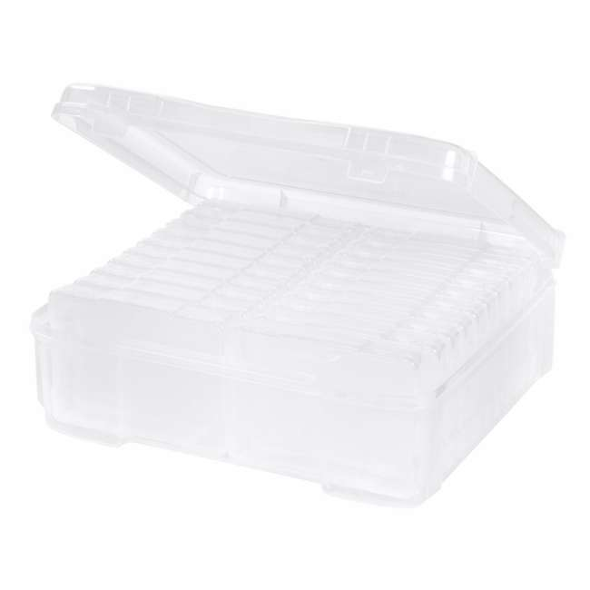 585140 IRIS 585140 5 x 7 Inch Large Photo Craft Keeper Storage Box Organizer, Clear 2