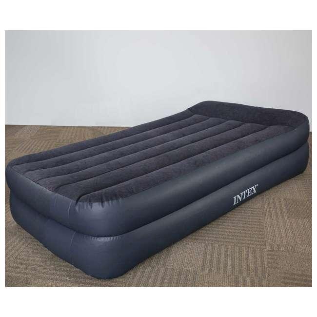 66705E Intex Pillow Rest Twin-Size Air Mattress w/ Built-In Pump & Pillow  3