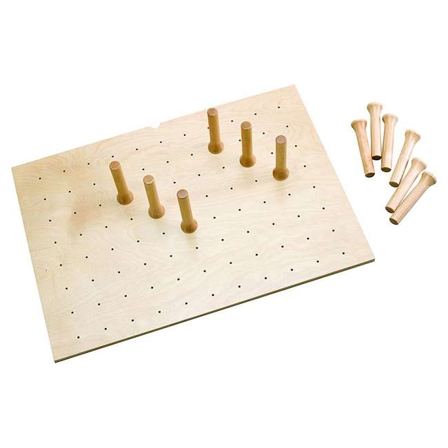 4DPS-3021-U-A Rev-A-Shelf 12 Peg Board System for 30 x 21in Drawers, Maple (Open Box) (2 Pack)