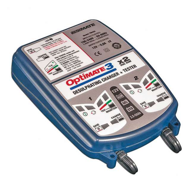TM-451 TecMate OptiMATE 3 Duel Bank 12-Volt Vehicle Battery Charger 1