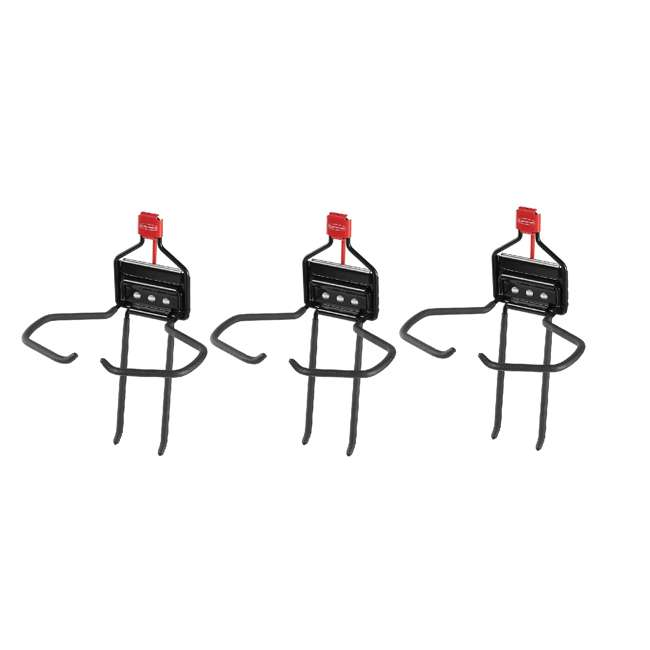 3 x 2024655 Rubbermaid Storage Shed Space Saving Large Mounted Power Tool Holder (3 Pack)