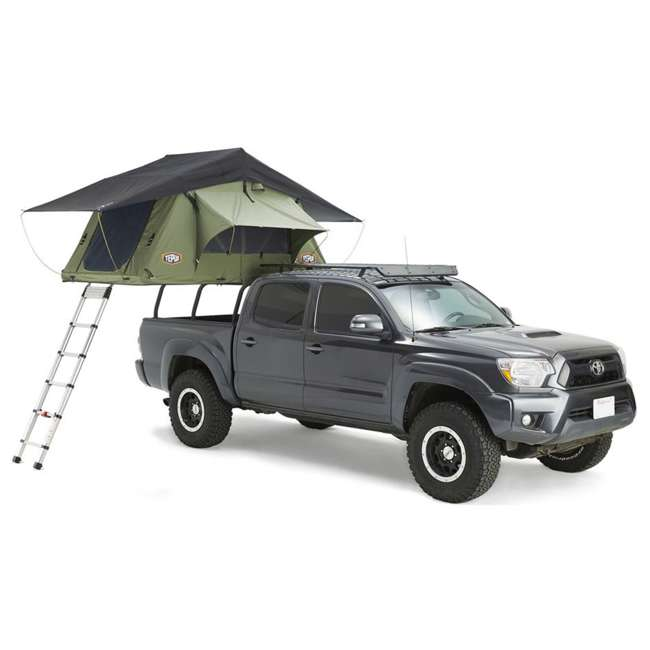 01KRG051606 + 1060001 Tepui Kukenam Ruggedized Sky 3 Person Outdoor Roof Top Tent & Hydraulic Jack 2
