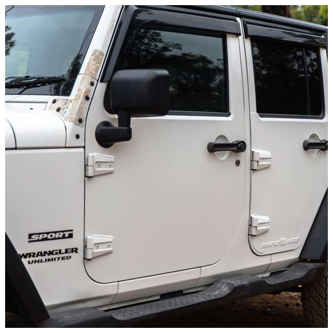 JPJKW2D-RHG Rhinohide Jeep Wrangler JK 2-Door Magnetic Body Armor Panels, Rhinohide Gray 1