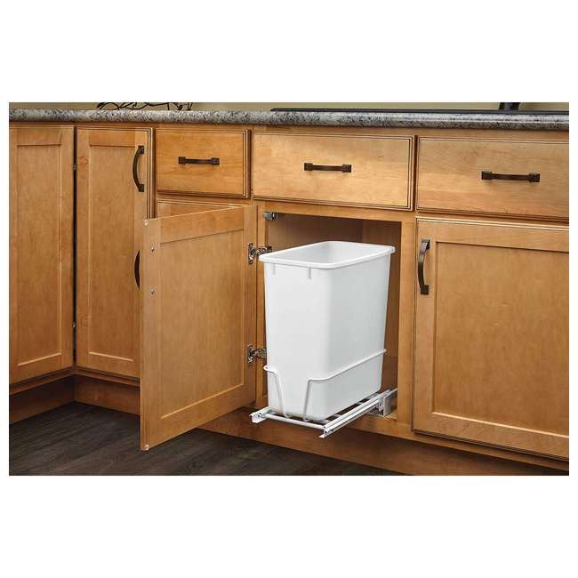 RV-814PB-U-A Rev A Shelf 20 Quart Undermount Pullout Waste Container, White(Open Box)(2 Pack) 3