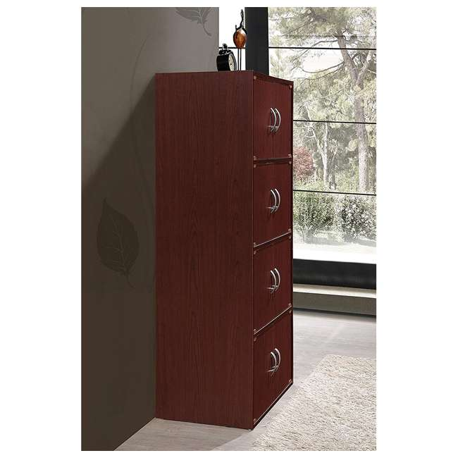 HID44 MAHOGANY Hodedah 8 Door Enclosed Multipurpose Storage Cabinet for Home/Office, Mahogany 1