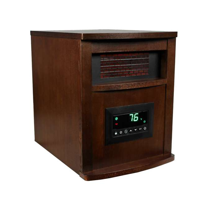 LS-1000X-6W-IN-U-A LifeSmart LifePro 6 1500W Electric Infrared Quartz Space Heater (Open Box) 1