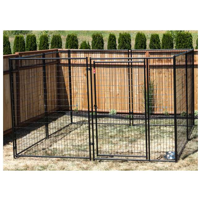 CL 69150-U-B Lucky Dog Large Modular Welded Wire Dog Kennel, 10 x 10 x 6 feet (Used) 1