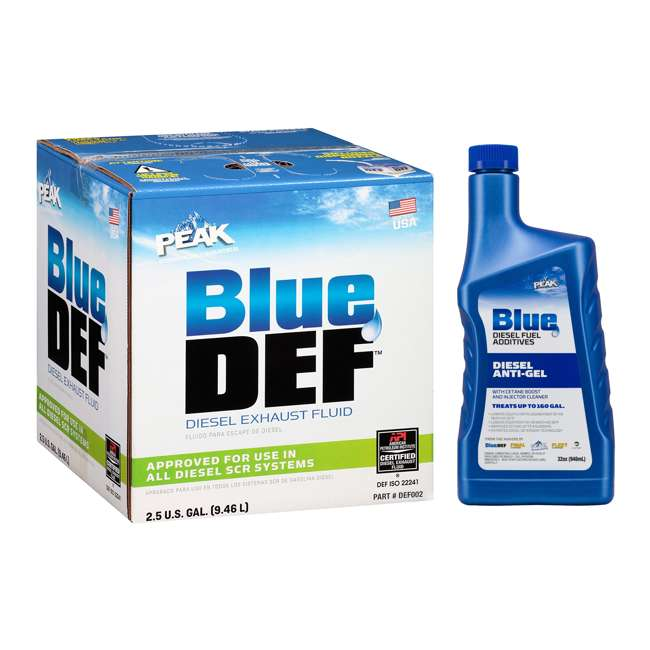 DEF002 BlueDEF Diesel Urea & Deionized Water 2.5 Gal JugPEAK Anti-Gel Diesel Additive
