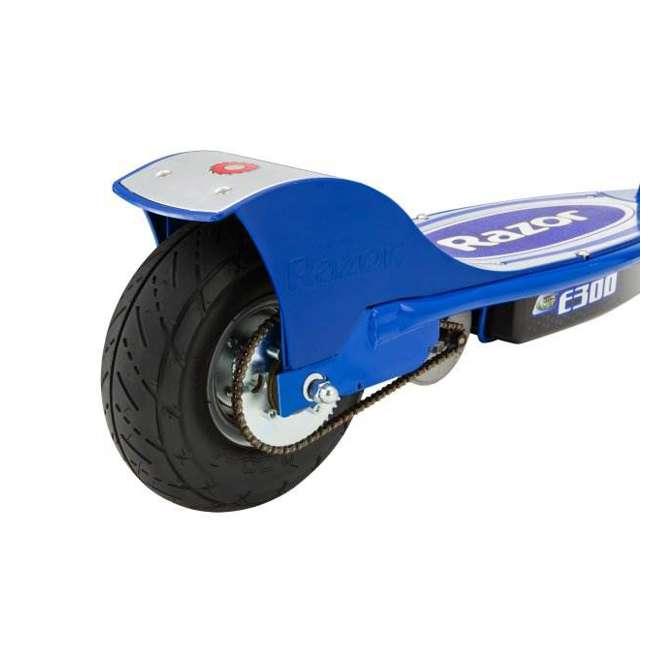 13113640 + 97778 Razor E300 Electric Scooter (Blue) & Youth Helmet (Black) 6