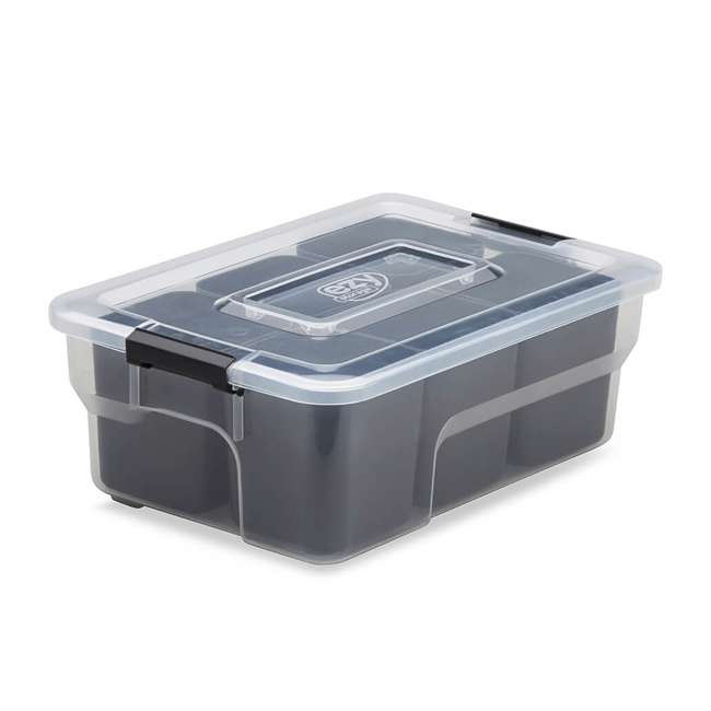 9 x FBA32236 Ezy Storage Sort It 5 Liter Stacking Container Box with Removable Cups (9 Pack) 2