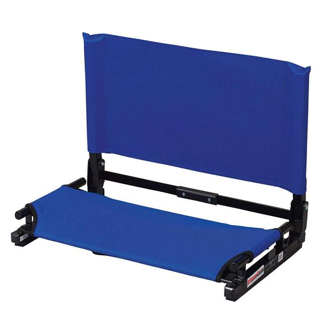 WSC2-ROYAL Stadium Chair Deluxe Game Changer Folding Bleacher Seat, Royal Blue (2 Pack) 1