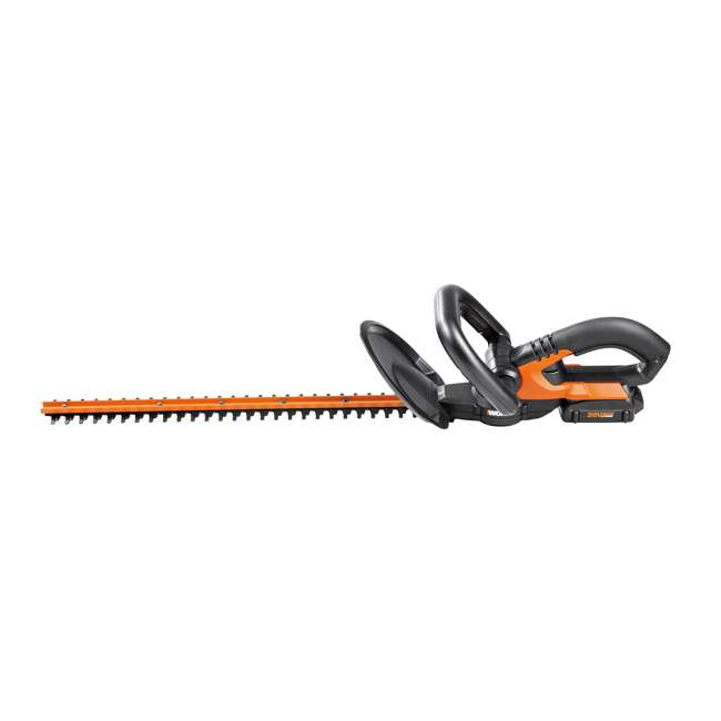 WG255.1 Worx 20-Inch 20V Cordless Hedge Trimmer with Battery & Charger 1