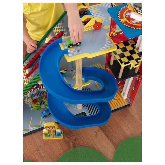 63267-U-A KidKraft Kids Mega Ramp Racing Set for Matchbox and Hotwheels Cars (Open Box) 5