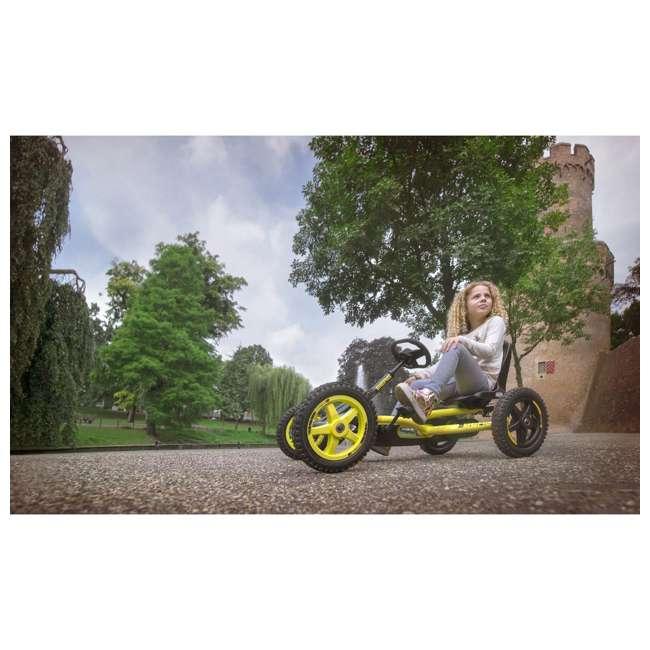 24.20.65.00 BERG Buddy Cross Kids Pedal Go Kart Ride On Toy w/ Axle Steering, Black & Yellow 5